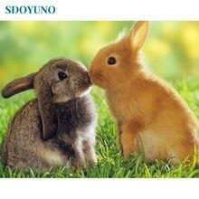 Sdoyuno 5d diy Алмазная картина домашний декор кролик животные