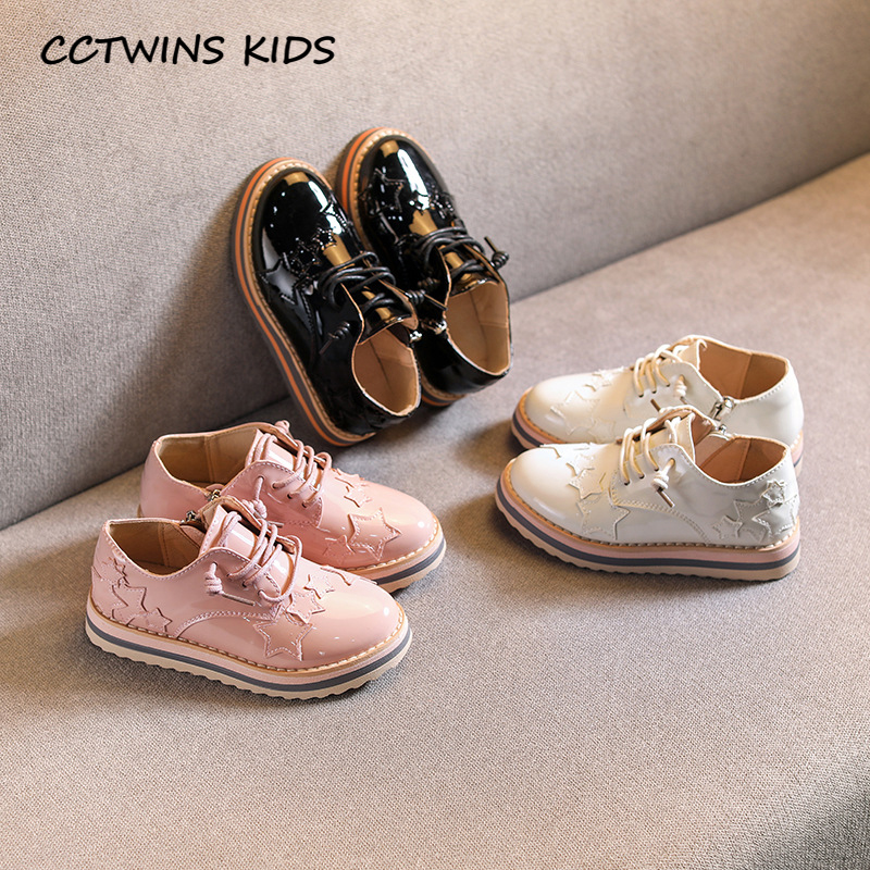 Kids Girls Shoes 2020 Spring Children Fashion Oxford Baby Girls Brand Black Flat Toddler Casual Star Shoes White GX2027