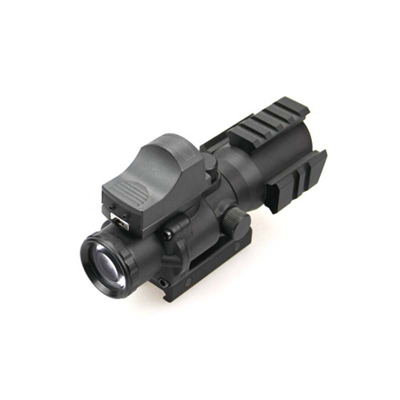 Hunting Riflescope Tactical ACOG 4x32 Rifle Scope + HD107 Military Shooting Red Green Dot Rifle Scope