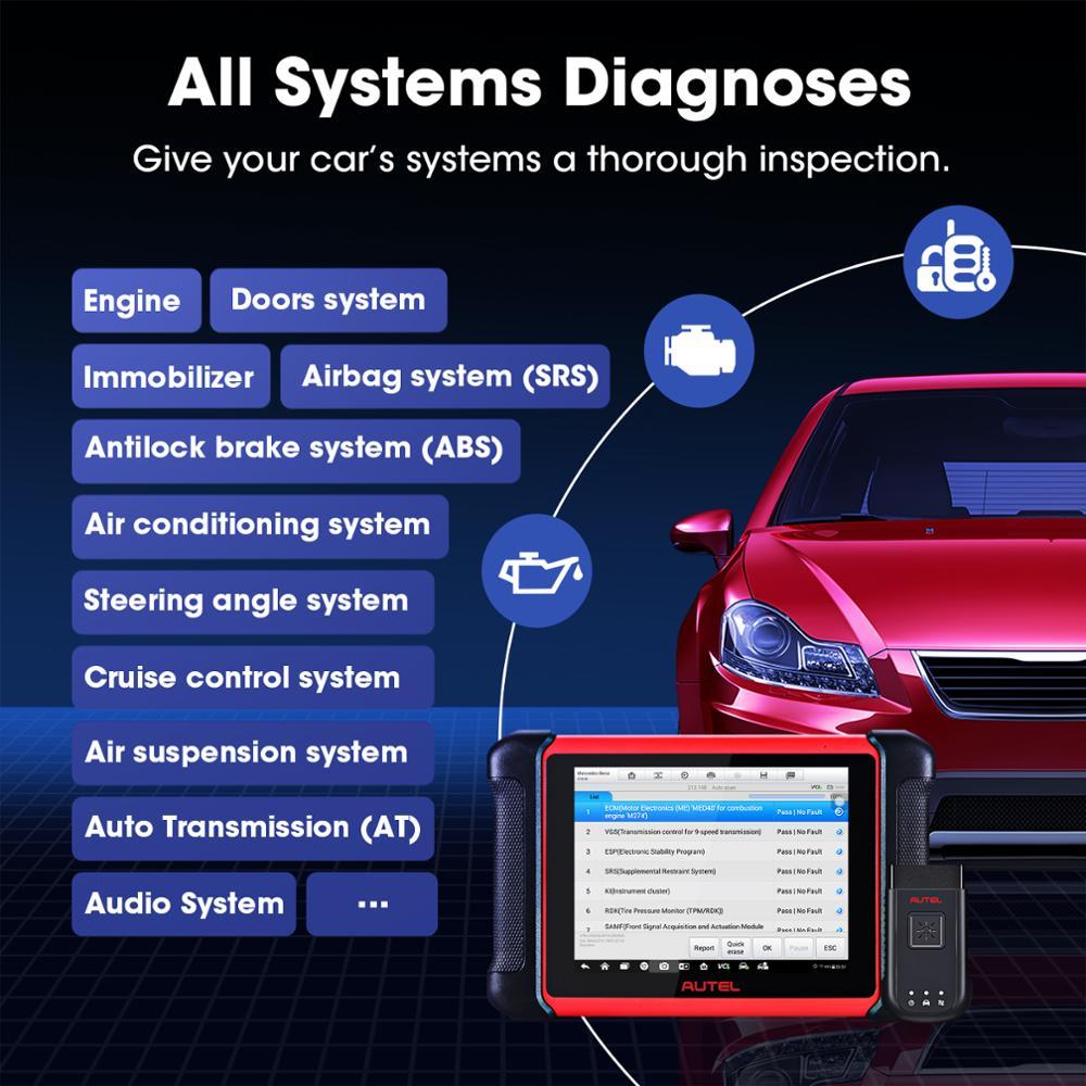 Autel MaxiCOM MK906BT Car Diagnostic Tool Bluetooth Automotivo Scanner ECU  Coding PK MaxiSys MS906BT MS908S MS906 Engine Analyzer  - AliExpress