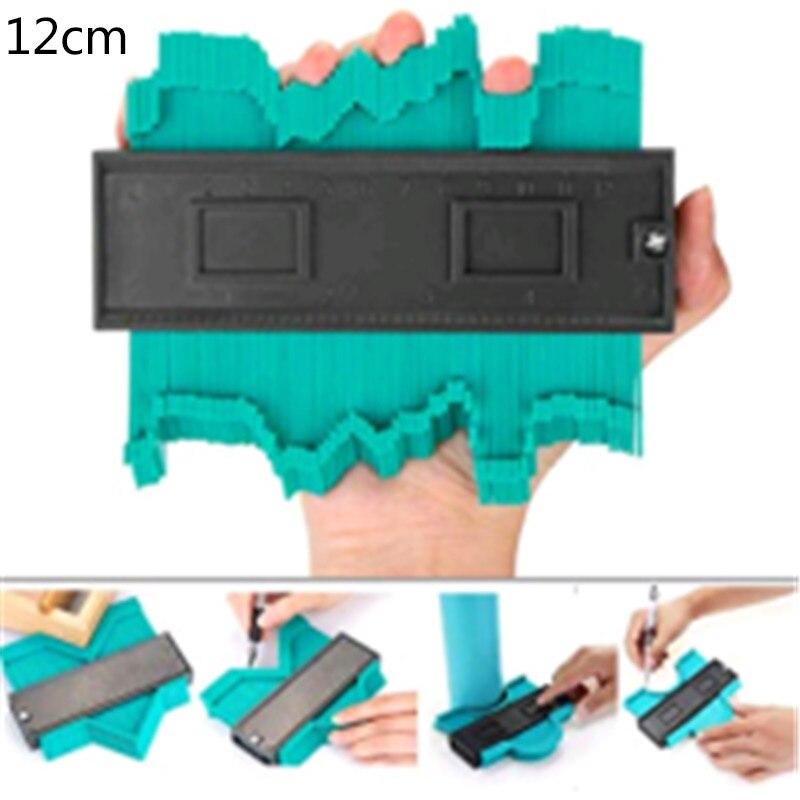Многофункциональный контурный профиль калибровочный плиточный ламинат кромка формирующая деревянная измерительная линейка ABS контурный манометр Дубликатор 5/10 дюймов - Цвет: G234462