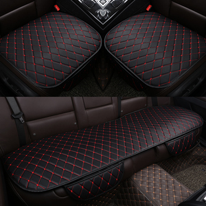 Image 1 - PU Leather Car Seat Cover Universal Auto Interior Car Front Rear Back Cushion Protector Four Season Accessories Interior