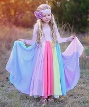 Kids Baby Rainbow Long Sleeve Dress