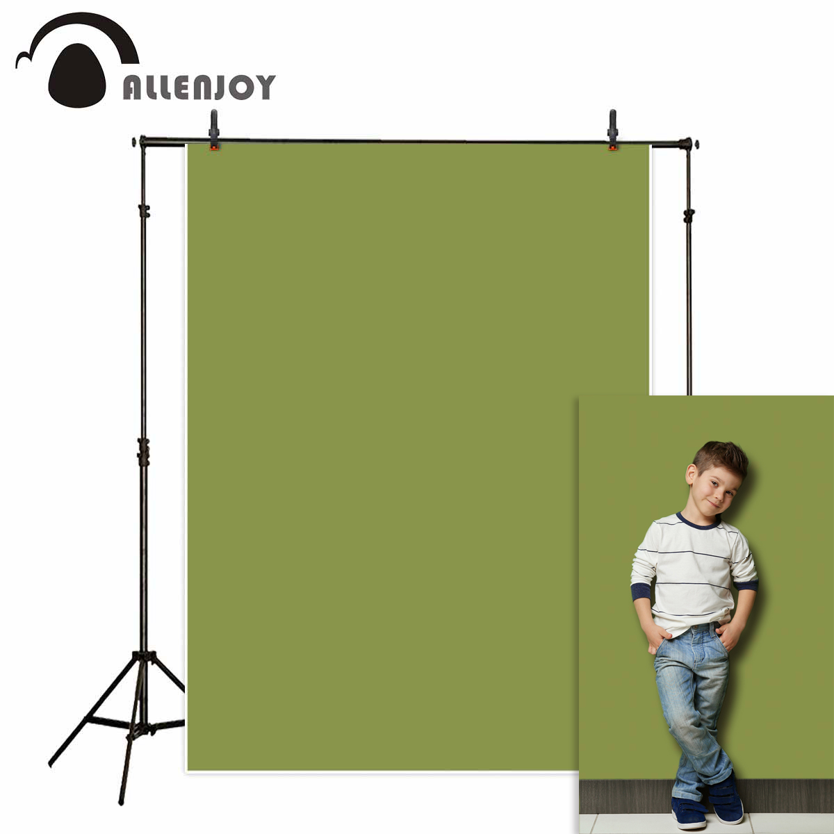 Allenjoy avocado green background pure color portrait shooting photography photo studio backdrop photobooth photozone photophone
