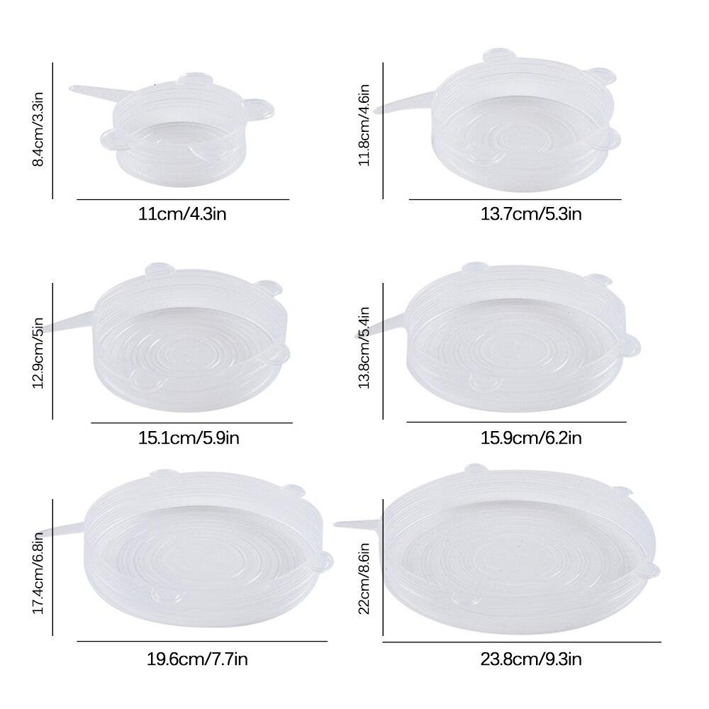 6 шт. Миска крышка комплект эластичный силикон Саран Обёрточная бумага сохранение продуктов в свежем состоянии чехол силиконовый кухонный инвентарь Еда Обёрточная бумага печать крышка