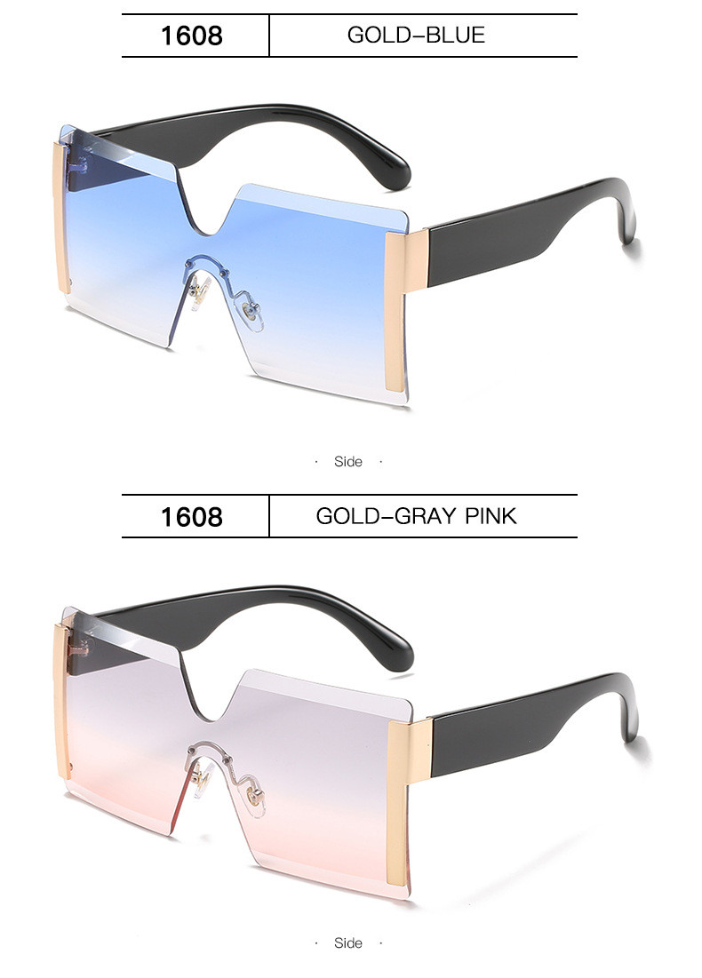 Luxury Brand Women's Sunglasses Square Sunglass Lady Designer 2021 trend Cool Vintage Retro Sun Glasses Rimless Shades For Women (13)
