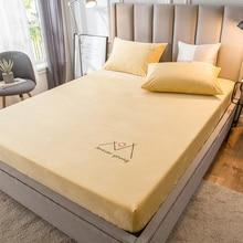 Pillowcases Fitted-Bed-Sheet Bed-Linen Super-Soft Coverlet Mattress Bedspread Velvet