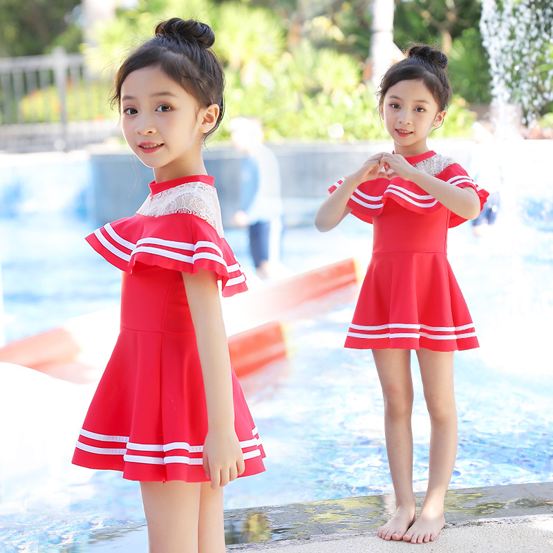 KID'S Swimwear Women's Girls Big Boy One-piece Princess Dress-Tour Bathing Suit Cute Baby Infants Small CHILDREN'S Swimwear