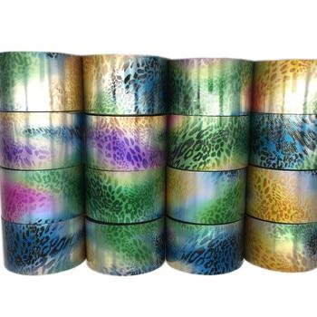 16 Rolls Leopard Print Nail Stickers Decals Holograph Nail Foils Transfer Sliders Paper 120M Python Pattern Wraps Set Manicure
