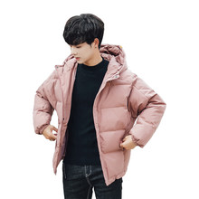 2019 New Short Tide Men Winter Down Coat Youth Student Casual Mens Thickening Warm Down Jacket Brand Men Clothing Black(China)