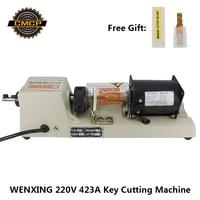 WENXING 423A Tubular Key Cutting Machine 220V Horizatol Key Duplication Machine Key Copy Machine Locksmith Tools Key Cutter