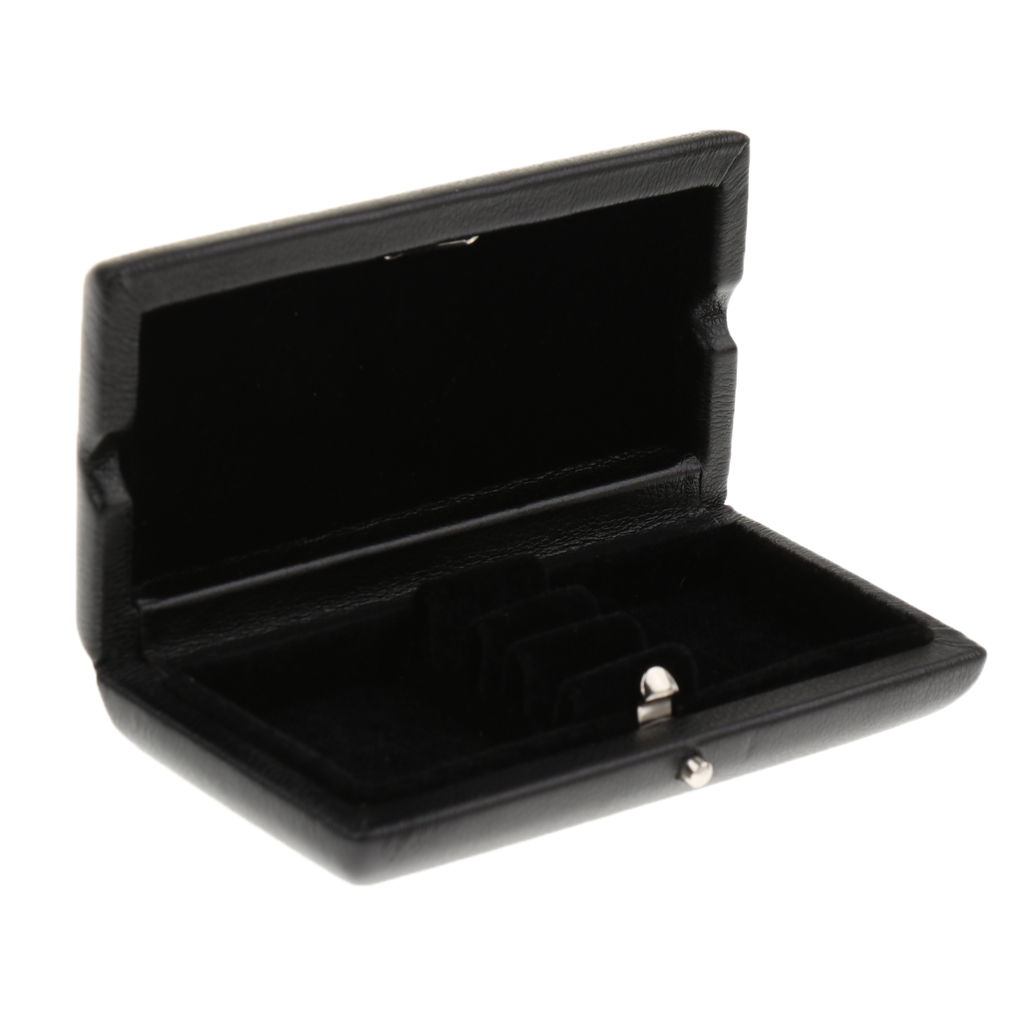 Black PU Leather Oboe Reeds Case Box For 3pcs Reeds Hold 9x4.5x2cm