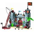Развивающий строительный блок, Пираты и Королевская гвардия, боевой замок, 366 шт., развивающие кирпичи, игрушка для мальчика, подарок-без кор...
