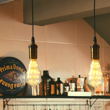 Edison Light Bulb 220V E27 Ampoule Retro Starry Star Filament Lamp Decorat Warm Yellow Indoor Outdoor Garden Dinner Holidays Bar