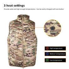 Hommes en plein air USB gilet chauffant veste 3 vitesse réglage de la température électrique thermique vêtements gilet randonnée gilet