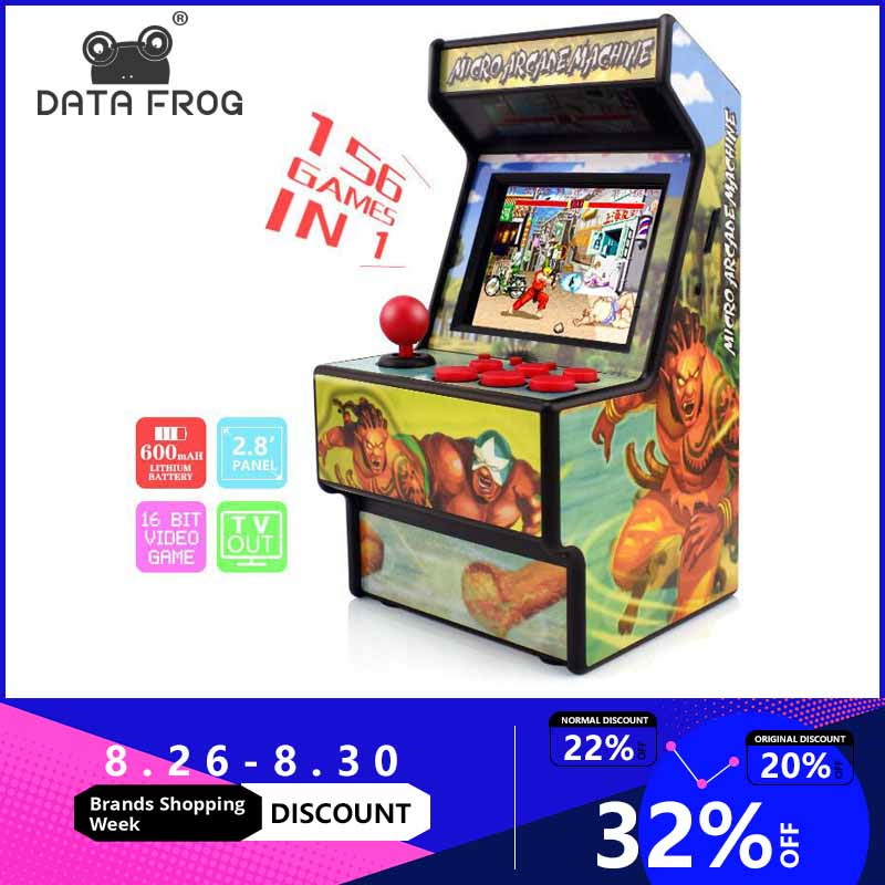 Game-Console Classic-Games Data-Frog Arcade Handheld 16-Bit Retro Mini Built-In 156