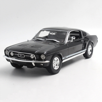 Maisto 1/18 1:18 Scale 1967 Ford Mustang GTA Fastback Racing Car Diecast Display Metal Alloy Collectible Model Children Boys Toy maisto 1 18 1950 ford old car model diecast model car toy new in box free shipping 31681