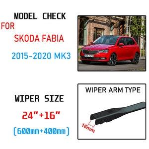 Image 2 - Para skoda fabia 3 nj 2015 2016 2017 2018 2019 2020 mk3 acessórios do carro frente windscreen limpador lâminas escovas cortador peças de automóvel