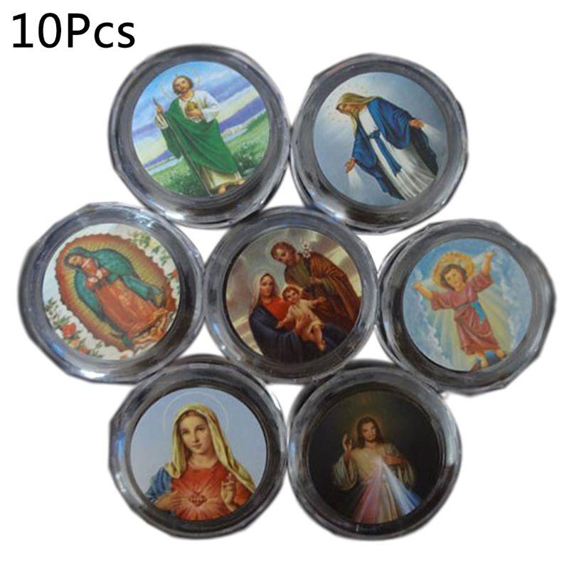 10 Pcs Plastic Storage Box For Round Beads Catholic Rosary Cross Religious Necklace Jewelry Bracelets