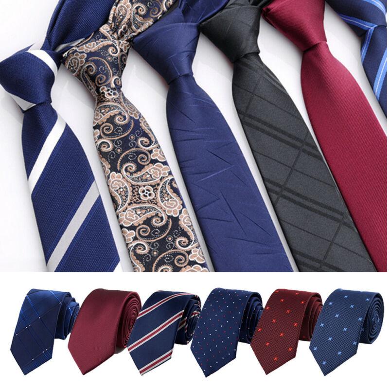 6cm Classic Slim Business Men Ties Fashion Tie Formal Fashion Jacquard Fabric Multi-Styling Available Fashion Business Neck Ties