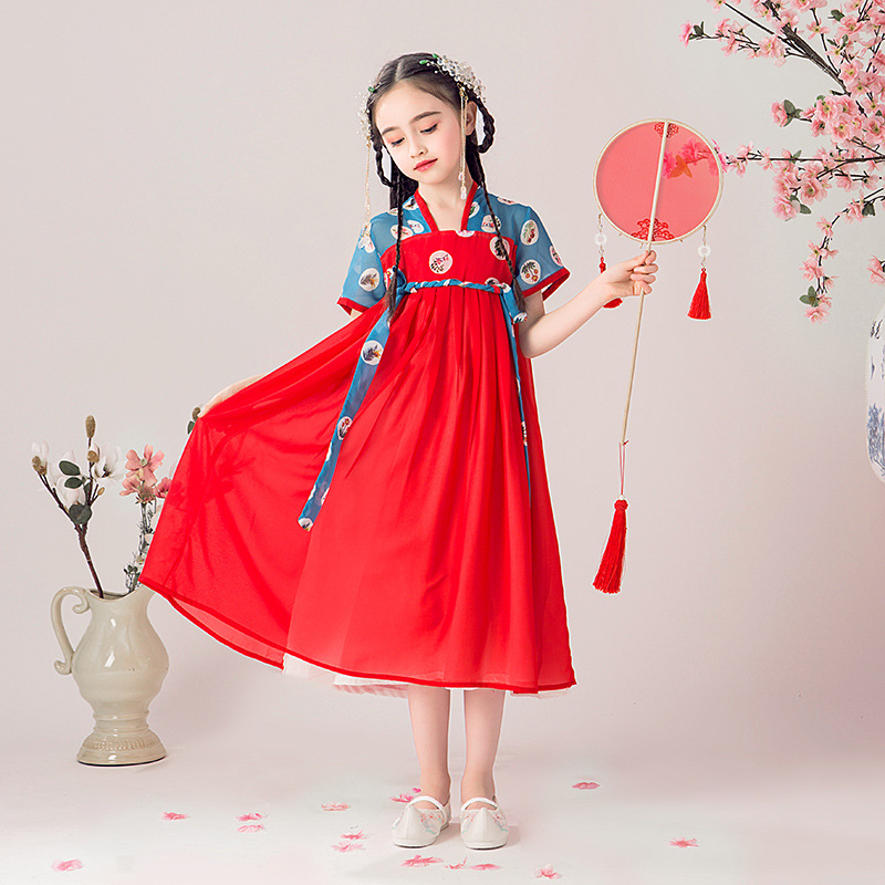 CHILDREN'S DAY Children Fairy Princess Chinese Clothing Ancient Costume Girls Spring And Summer Jacket Skirt GIRL'S Chinese-styl
