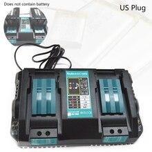 Double Battery Charger For Makita 14.4V 18V BL1830 Bl1430 DC