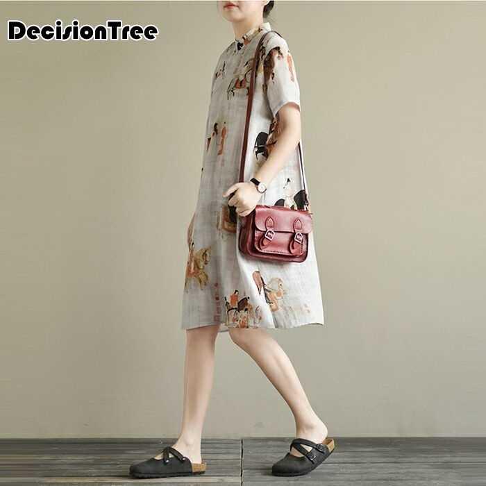 2020 cinese Abito senza maniche donne cinesi lungo cheongsam vestito di lino qipao vestito tradizionale cinese vestito lungo qipao