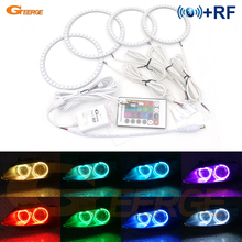 For BMW 3 Series E92 E93 328i 335i M3 Coupe or Convertible Xenon Headlight Excellent Multi-Color RGB LED Angel Eyes kit pair e92 h8 10w bulb 20w w cree chips angel eye marker led headlight no error for 07 12 bmw e92 328i 335i coupe m3 e93 e89 z4