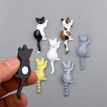 Refrigerator Magnets Sticker Fridge Animal Paster Cat Cute Cartoon 3D Resin 1pcs DIY