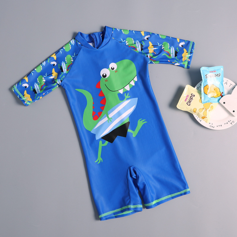KID'S Swimwear BOY'S One-piece Dinosaur Tour Pants New Products Boy Baby Infant Seaside Sun-resistant Swimming Holiday Hot Sprin