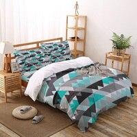 Triangle Geometric Figure Art Design Printed Duvet Cover Set 4 Piece Bedding Set Home Textile Customizable