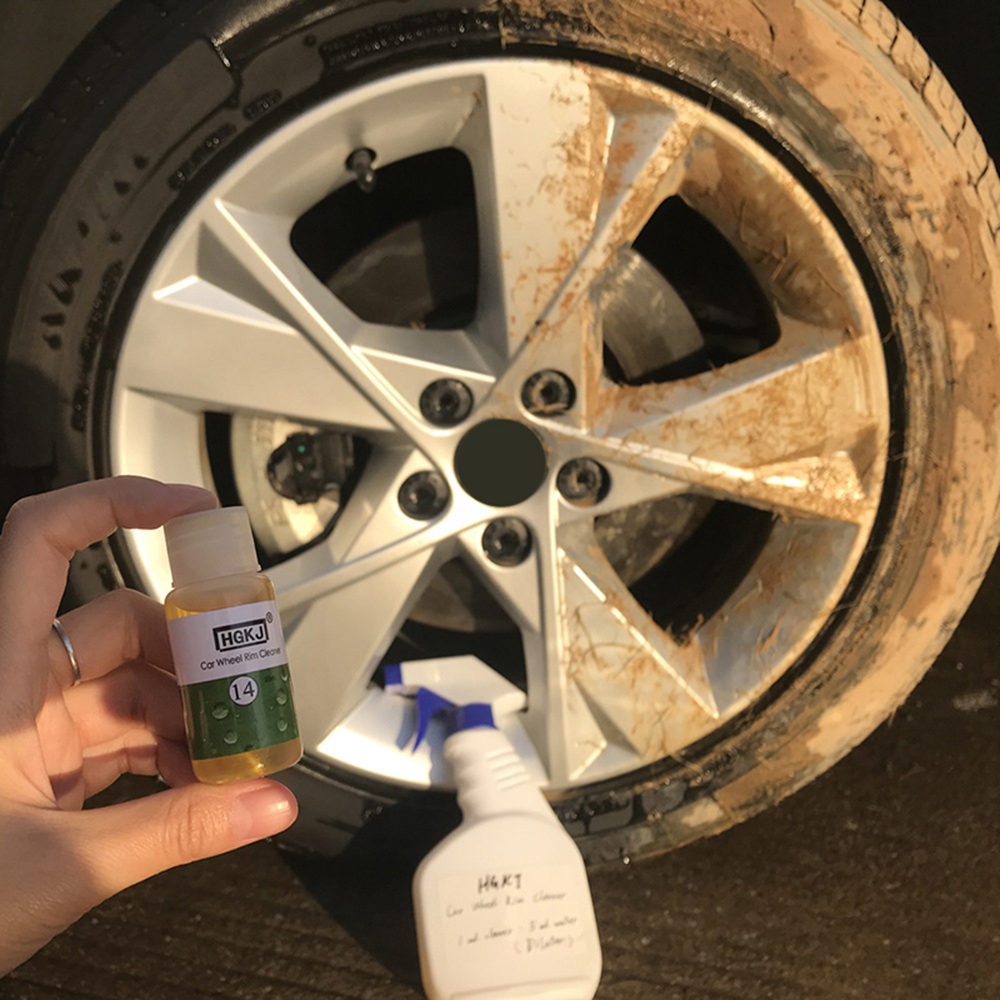 HGKJ-14 50LM Car Wheel Ring Cleaner High Concentrate Detergent To Remove Rust Tire Car Wash Liquid Cleaning Agent