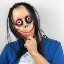 LED MOMO Horror Mask Cosplay Bird Beak momo Scary Hacking Challenge Whale Game Ghost Masks Halloween Party Props