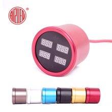 2.2inch 58mm 200PSI air pressure gauge suspension Air ride Pressure barometer with 4pcs inner sensors digital meter 6 colors