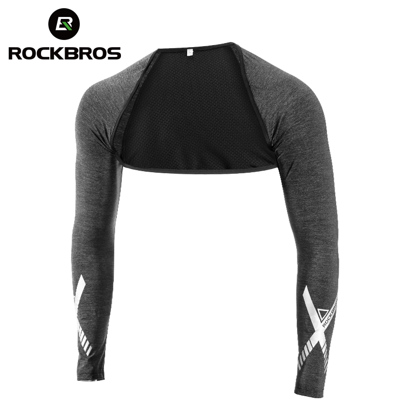 ROCKBROSS Summer Ice Silk Anti-UV Shawl Cuff Men Women Cycling Arm Sleeves Volleyball Fishing Running Outdoor Sports Arm Warmers
