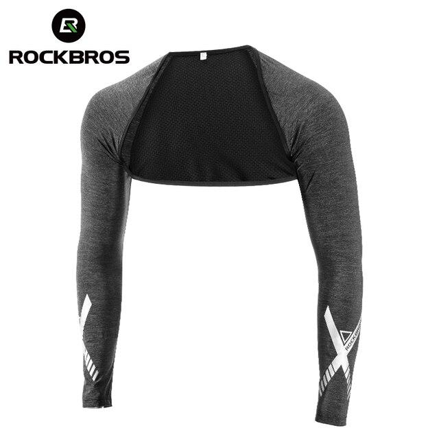 ROCKBROSS été glace soie Anti-UV châle manchette hommes femmes cyclisme manches de bras volley-ball pêche en cours dexécution Sports de plein air chauffe-bras