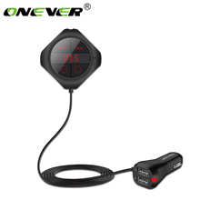 Onever 6 in 1 Hände Freies Drahtlose Bluetooth FM Transmitter Modulator Auto MP3 Player TF/SD Speicher karte USB LCD Auto Zubehör