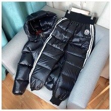 Ski-Suits Pants Winter-Sets Girls Hooded Down-Jackets Boys Kids 3-11-Years Children Warm