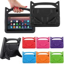 FENIORES Tablets Case skid-proof Kids soft EVA Rubber Handle Stand case cover Holder fashion Tablet stand For amazon fire 7 case(China)