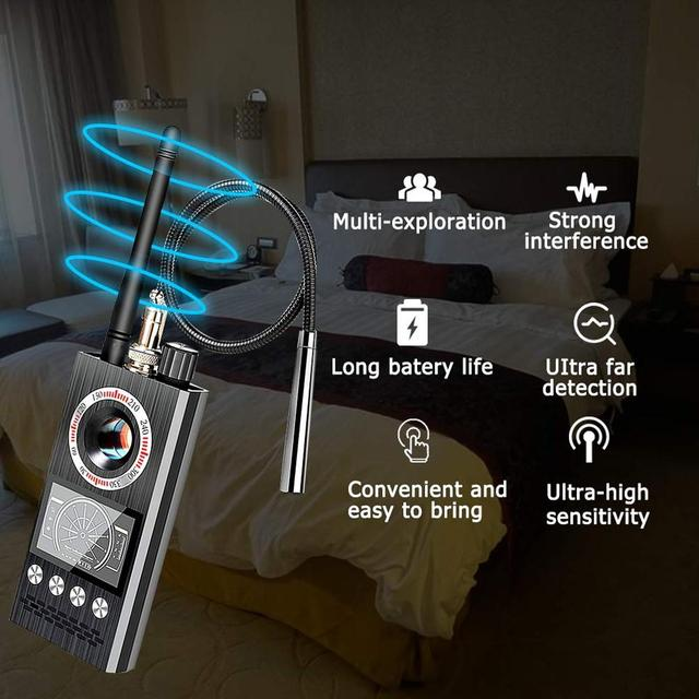 Anti Spy Wireless RF Signal Detector Bug GSM GPS Tracker Hidden Camera Eavesdropping Device Military Professional K68 VS K88 K18 2