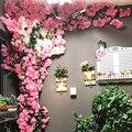 Вишневое дерево ветка Искусственные цветы Флорес альта Calidad романтическое украшение для дома свадебные украшения для поделок