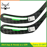 Hole Blade Ice Hockey Sticks N series ADV Super Light 370g Carbon Fiber Sticks Giveing Gift 4pcs with Sticks Bag 5pcs Funs Hoody