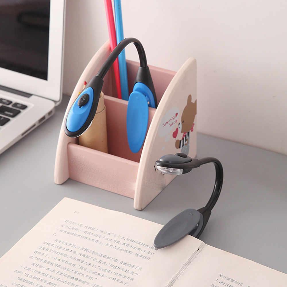 LED blanco brillante para leer la luz del libro fino conveniente portátil de viaje libro de lectura lámpara de luz Mini LED Clip Booklight