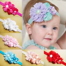 Baby Girl Hair Bow Headband DIY Bow Flower Elastic Hair Bands for Newborn Infant Toddler Hair Accessories(China)