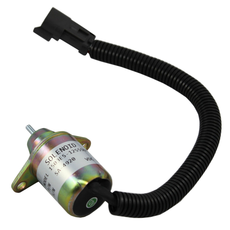 Stop Shut Off Shutdown Solenoid for Yanmar Engine Replaces Thermo King 41 6383 Valves & Parts     - title=