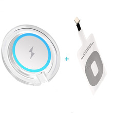 купить Qi Wireless Charging Transmitter+ Qi Receiver For Apple iPhone 4 5 5S SE 6 6S 6 Plus Wireless Charger Pad Kit For Samsung S10 9 по цене 112.03 рублей