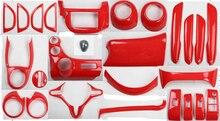 Lsrtw2017 Rot Farbe Auto Center Konsole Getriebe Panel Dashboard Lenkrad Fenster Vent Zierleisten für Honda Fit 2008-2013 zubehör