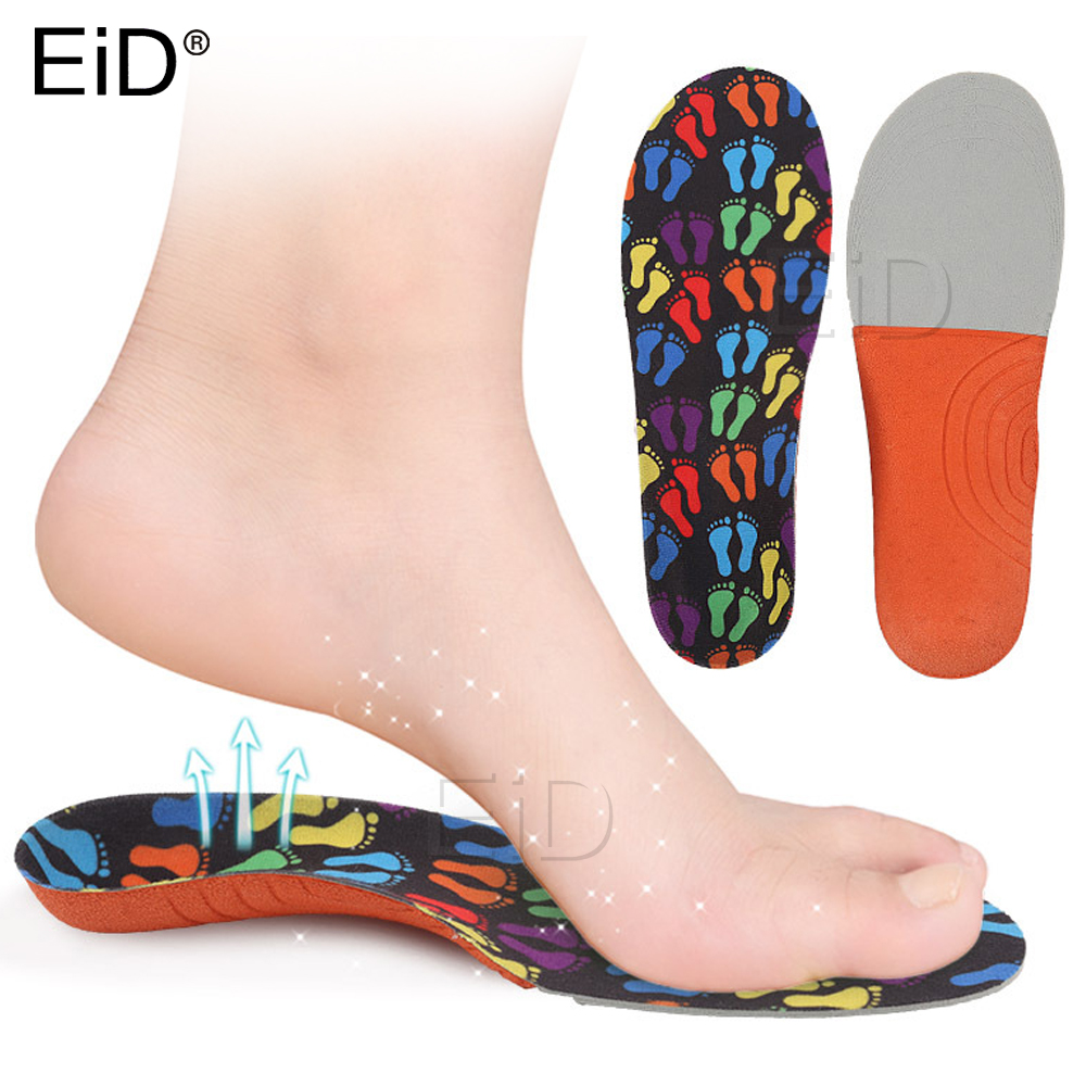 EiD Kids Children Sport Orthopedic Insoles For Feet Flat Foot Arch Support Insoles Orthotic Pads Health Shoes Pad Foot Care