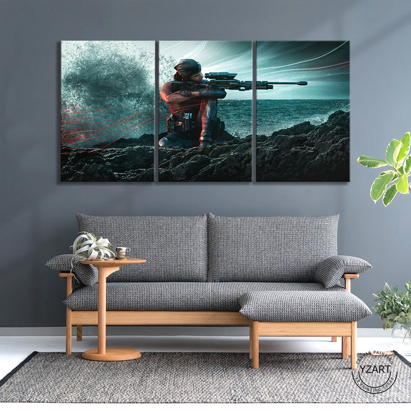 Rainbow Six Siege Operation Shifting Tides Female Sniper Game Character Poster HD Wall Picture Canvas Paintings for Home Decor 3