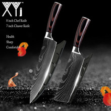 Kitchen Knife Japanese Knives-Set Chef Stainless-Steel Imitation-Damascus 7CR17 High-Carbon